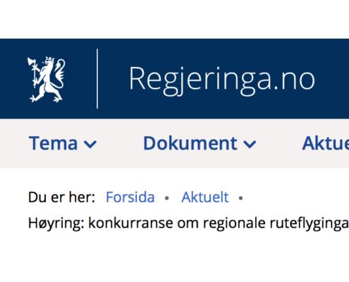 Flora Industri og Næringsforening. Høyring ruteflytilbod Sør-Noreg.