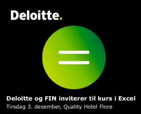 Excelkurs Deloitte - FIN