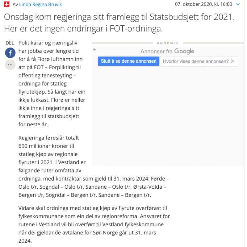 FOTruter Firdaposten 7.10.20 - florain.no